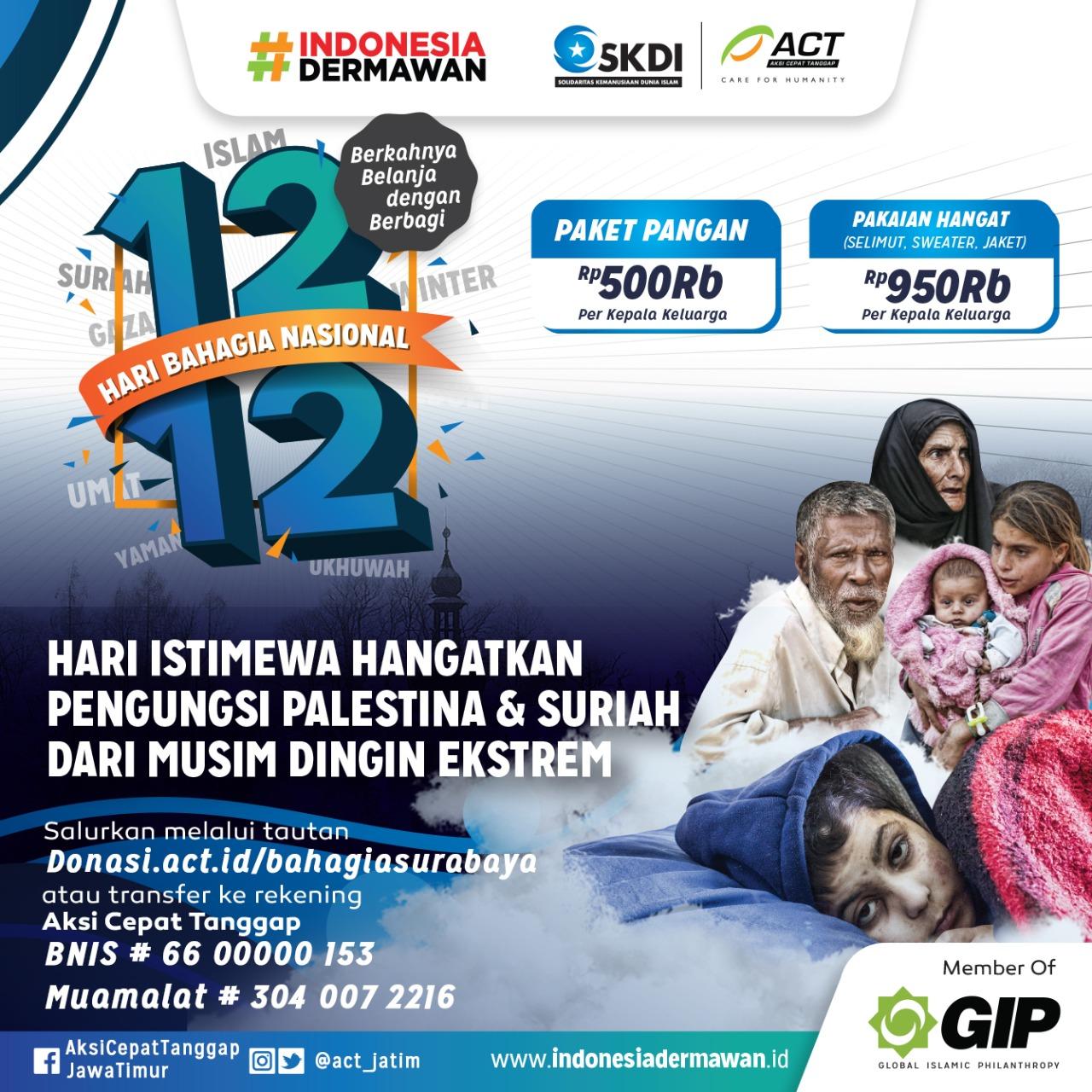 ACT Jatim Ajak Bahagiakan Sesama di Momen 12.12