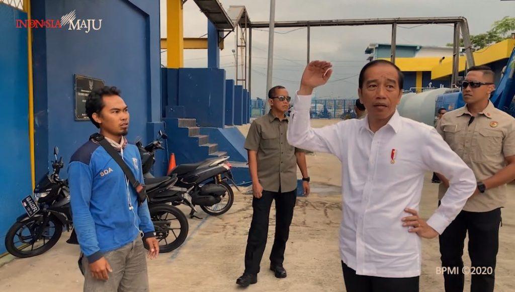Presiden Jokowi ke Waduk Pluit Pastikan Alat Penanganan Banjir Optimal