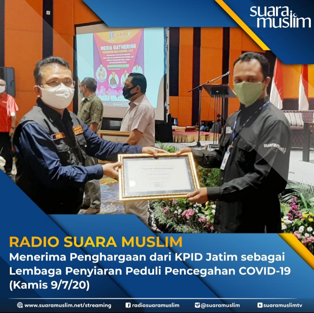 Radio Suara Muslim Raih Penghargaan dari KPID